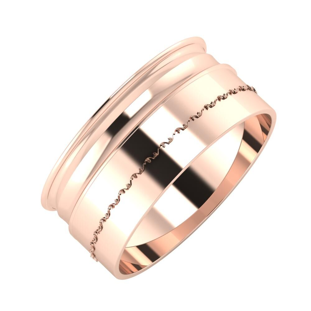 Agrippína - Ainó - Agnabella 9mm 18 karátos rosé arany karikagyűrű