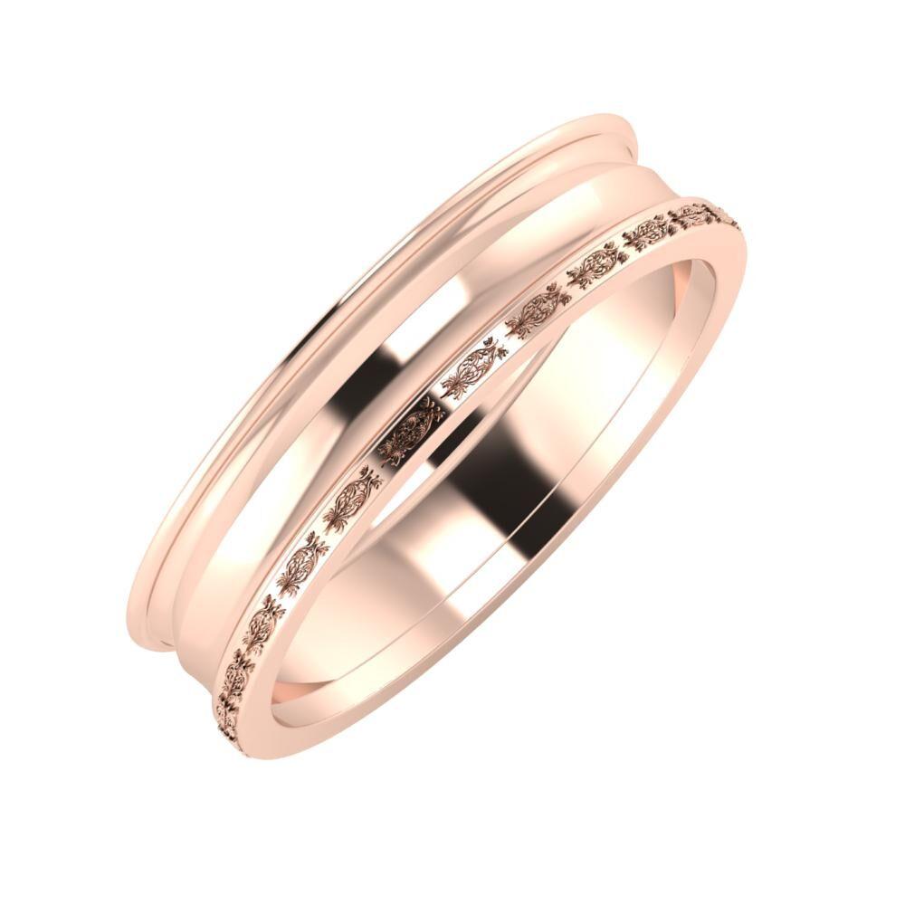 Agrippína - Ainó - Agnella 5mm 18 karátos rosé arany karikagyűrű
