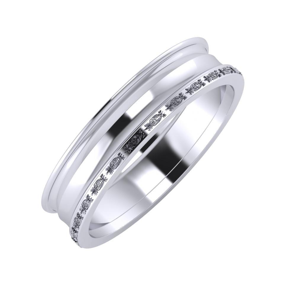 Agrippína - Ainó - Agnella 5mm platina karikagyűrű