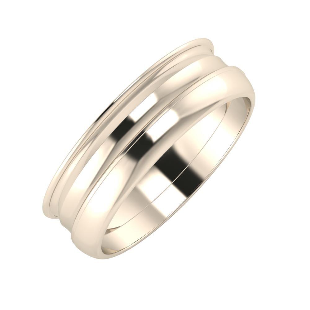 Agrippína - Ainó - Ágosta 6mm 22 karátos rosé arany karikagyűrű