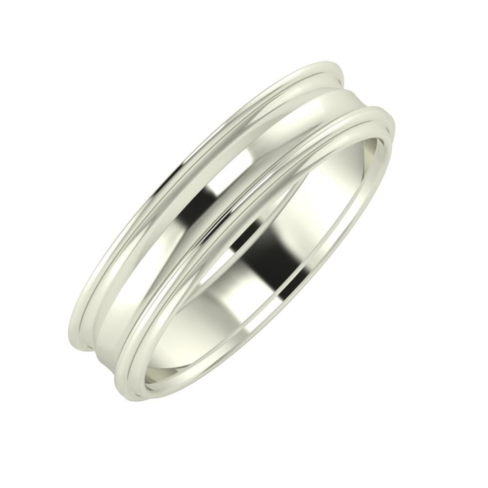 Agrippína - Ainó - Agrippína 5mm 14 karátos fehér arany karikagyűrű