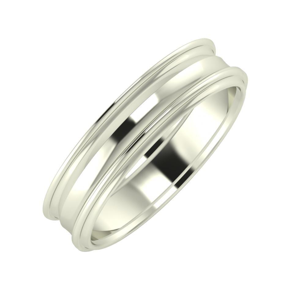 Agrippína - Ainó - Agrippína 5mm 18 karátos fehér arany karikagyűrű