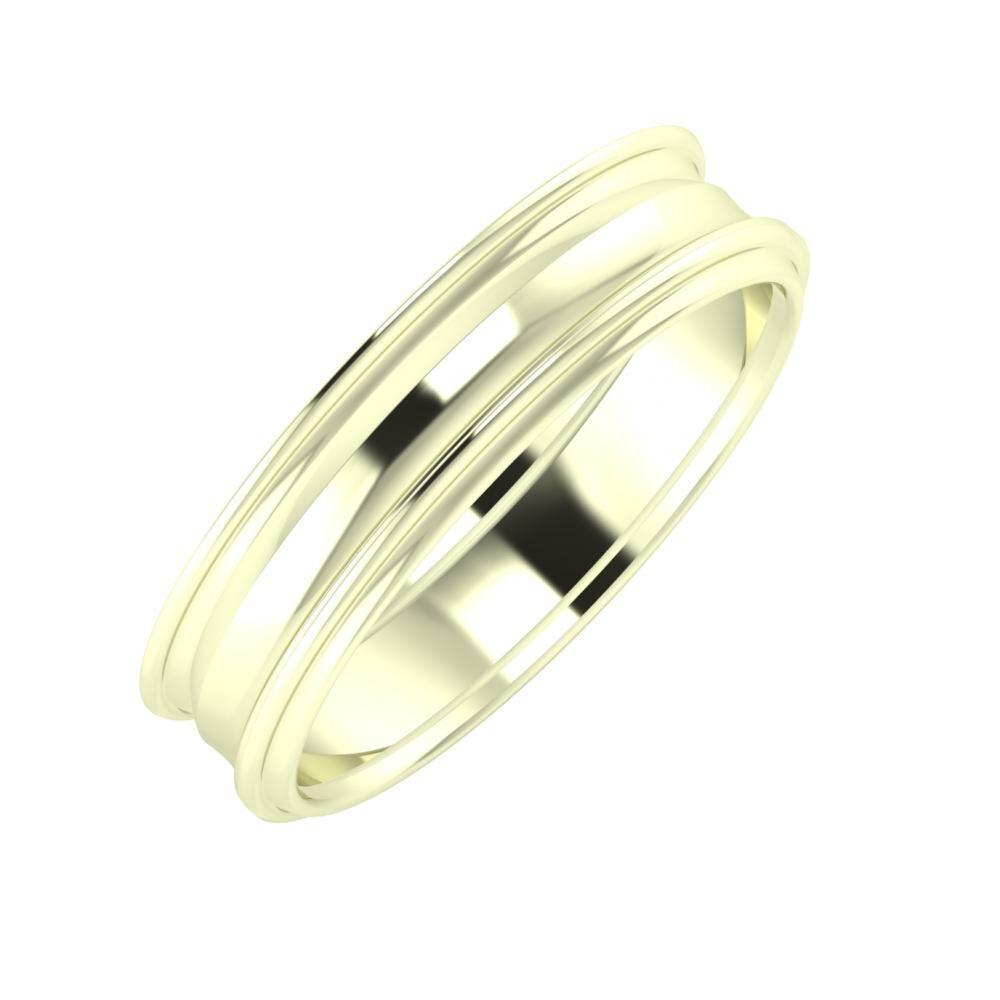 Agrippína - Ainó - Agrippína 5mm 22 karátos fehér arany karikagyűrű