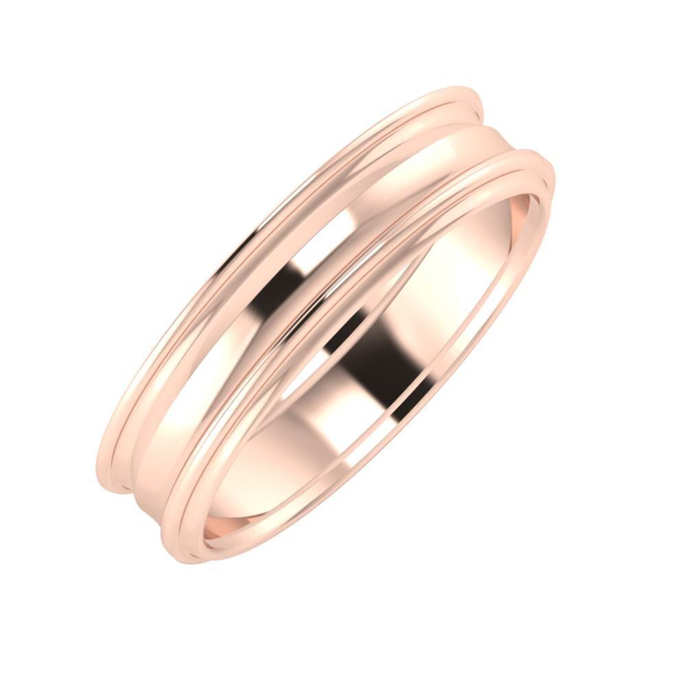 Agrippína - Ainó - Agrippína 5mm 14 karátos rosé arany karikagyűrű