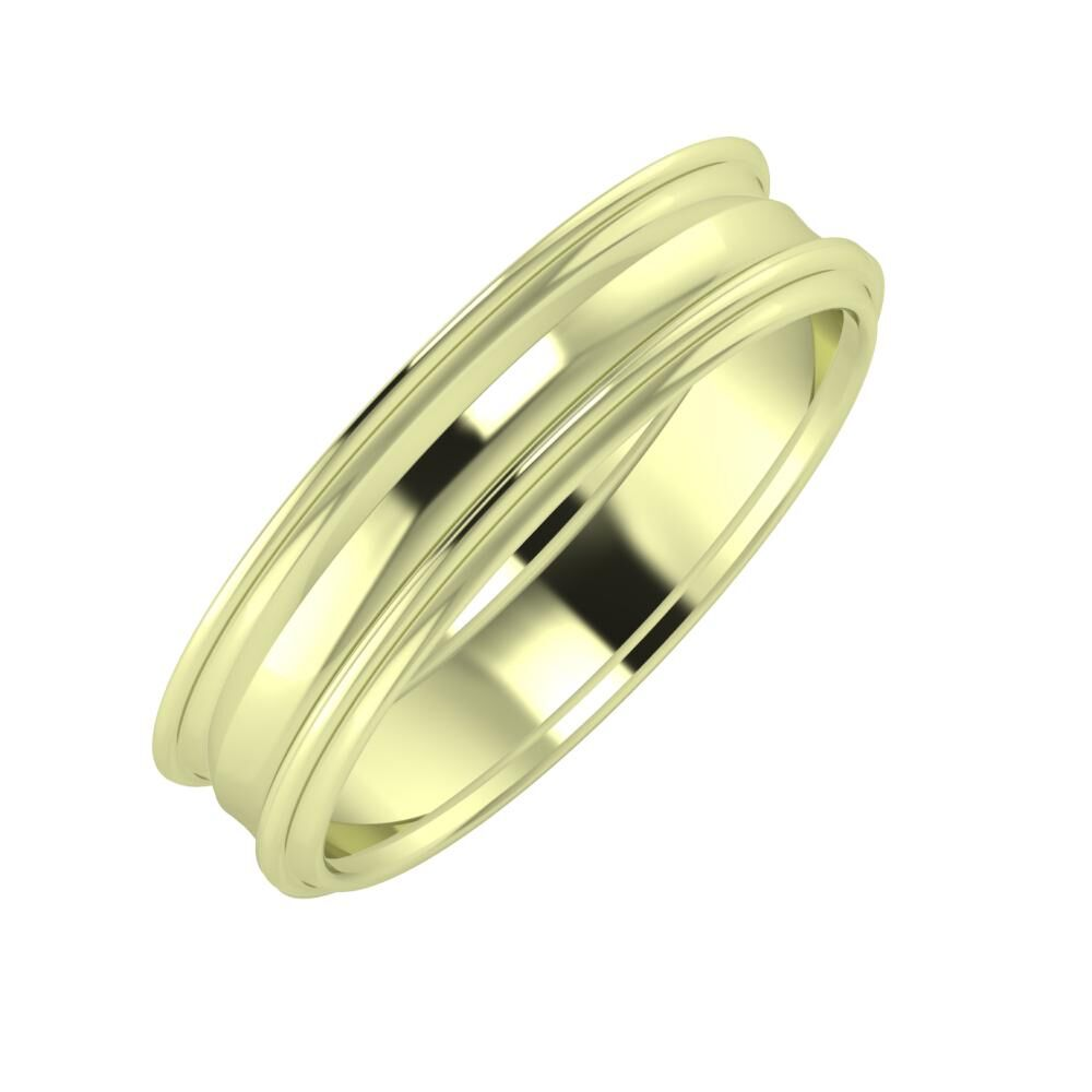 Agrippína - Ainó - Agrippína 5mm 14 karátos zöld arany karikagyűrű