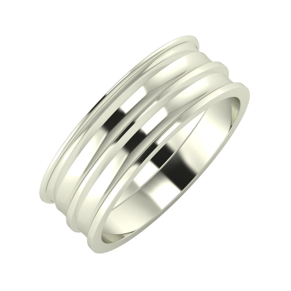 Agrippína - Ainó - Ainó 7mm 18 karátos fehér arany karikagyűrű
