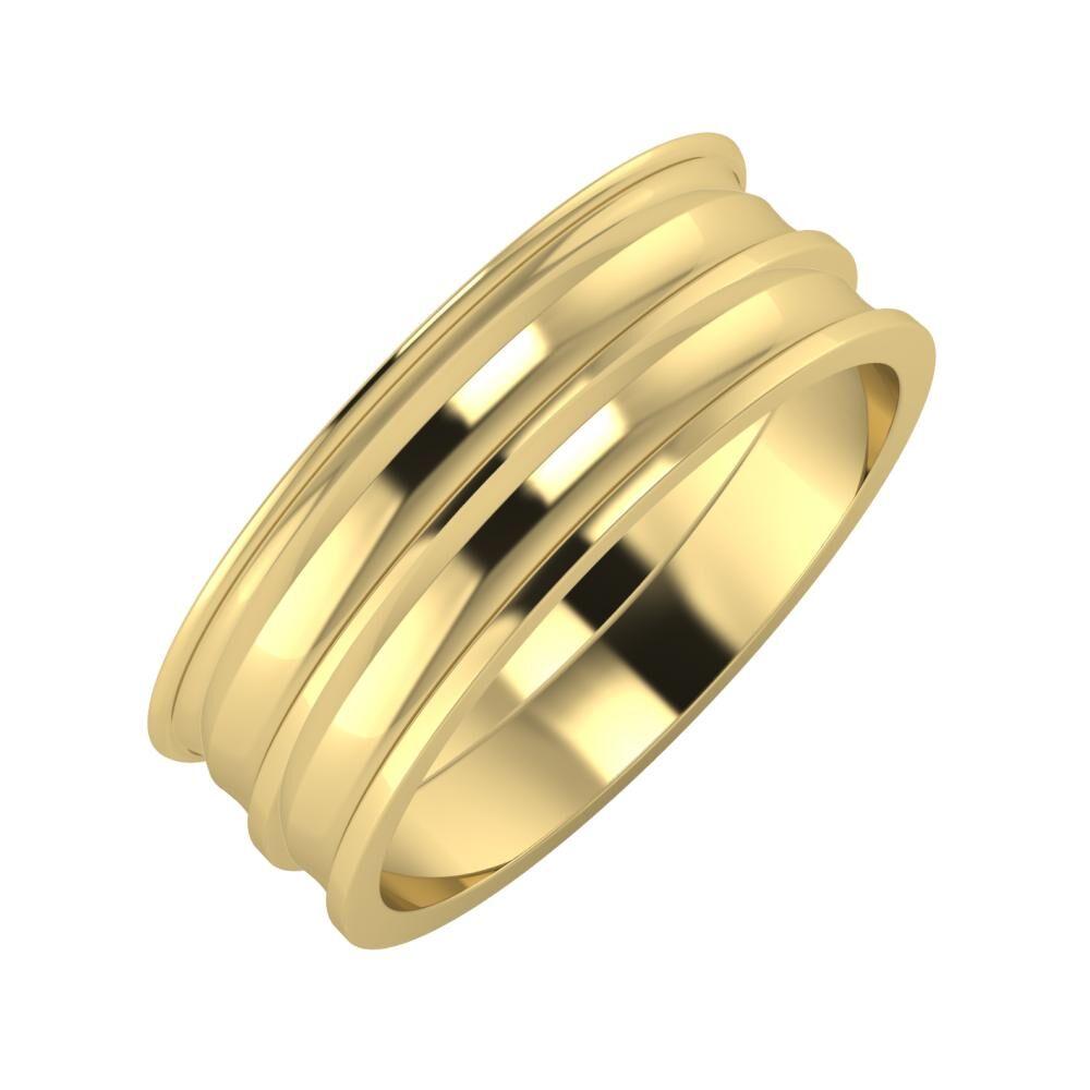 Agrippína - Ainó - Ainó 7mm 14 karátos sárga arany karikagyűrű