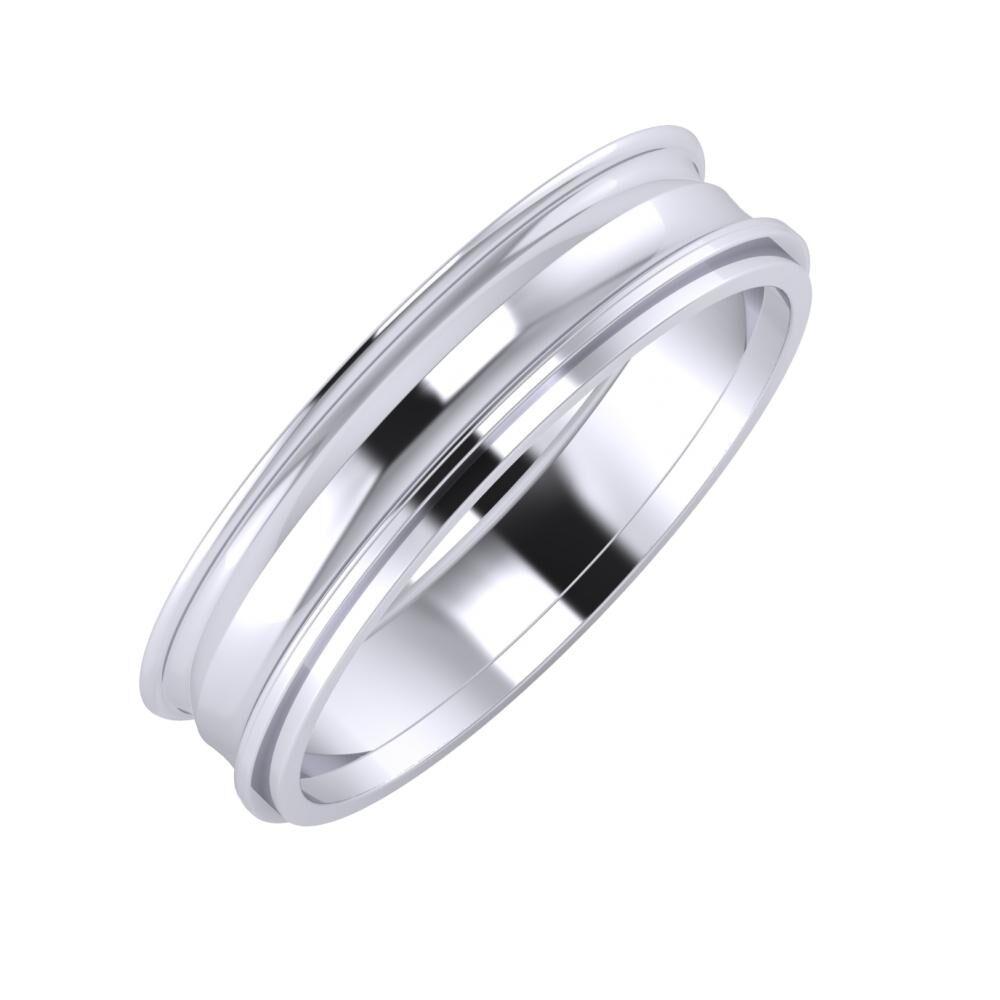 Agrippína - Ainó - Ájlin 5mm platina karikagyűrű