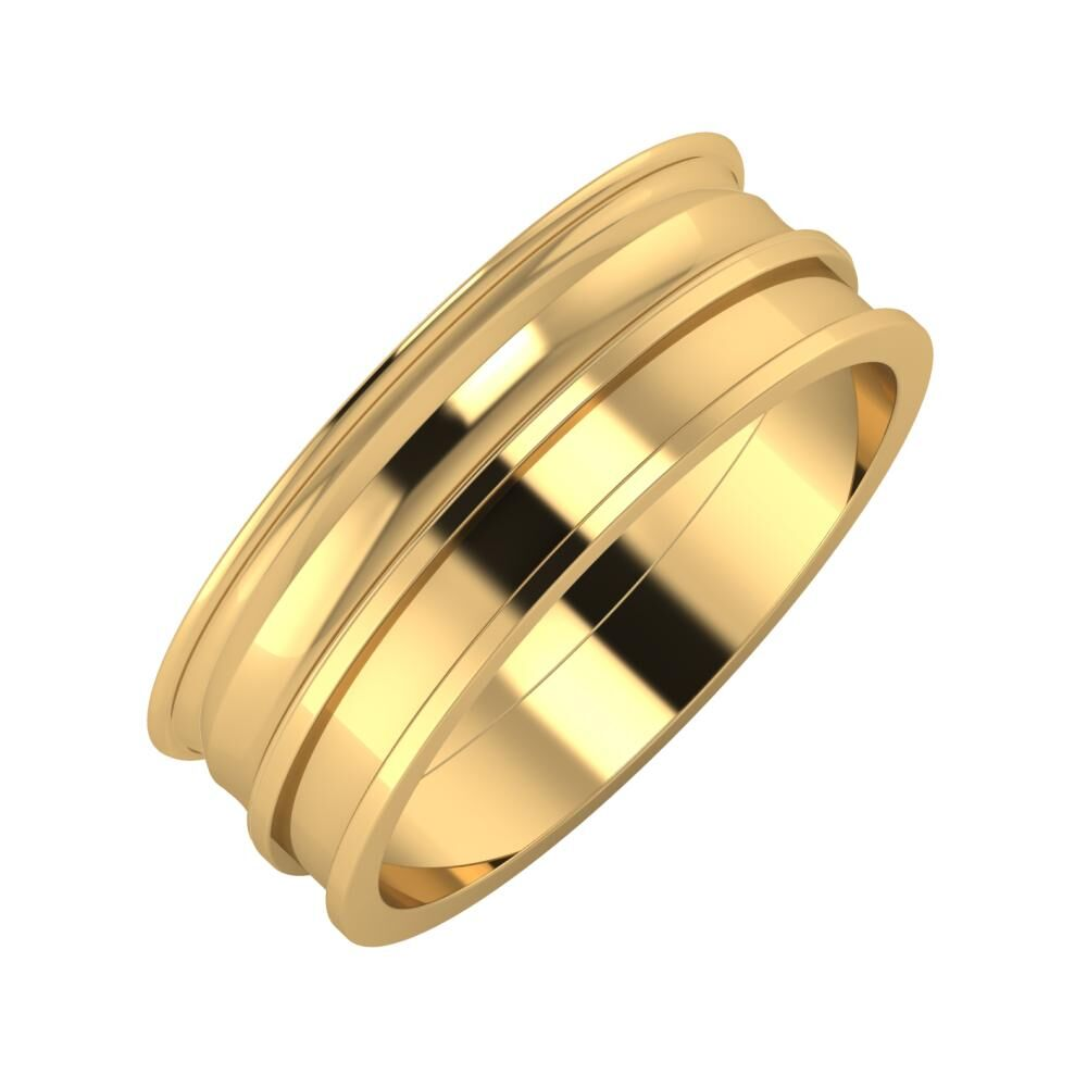 Agrippína - Ainó - Ajnácska 7mm 22 karátos sárga arany karikagyűrű