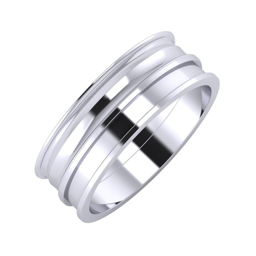 Agrippína - Ainó - Ajnácska 7mm platina karikagyűrű