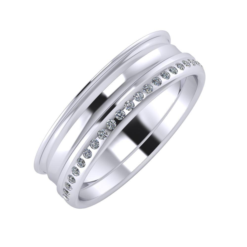 Agrippína - Ainó - Aldea 6mm platina karikagyűrű