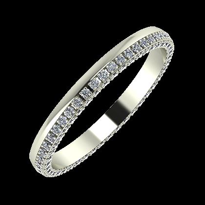 Aloma 2mm 14 karátos fehér arany karikagyűrű
