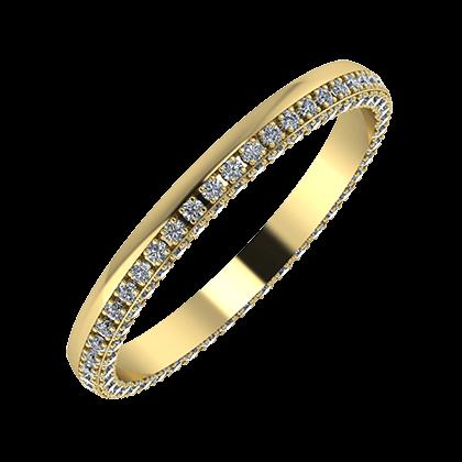 Aloma 2mm 14 karátos sárga arany karikagyűrű
