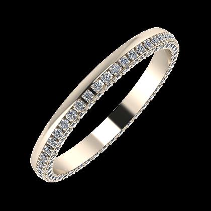 Aloma 2mm 22 karátos rosé arany karikagyűrű