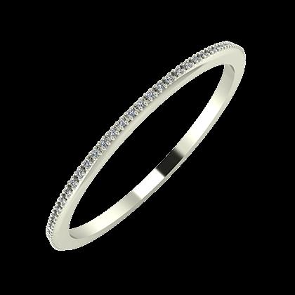 Alóma 1mm 14 karátos fehér arany karikagyűrű
