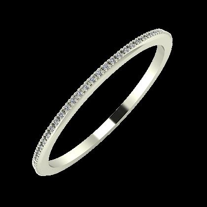 Alóma 1mm 18 karátos fehér arany karikagyűrű