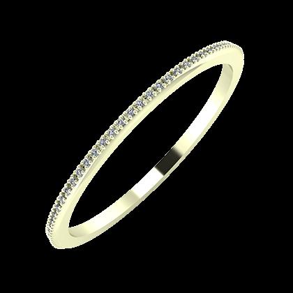 Alóma 1mm 22 karátos fehér arany karikagyűrű