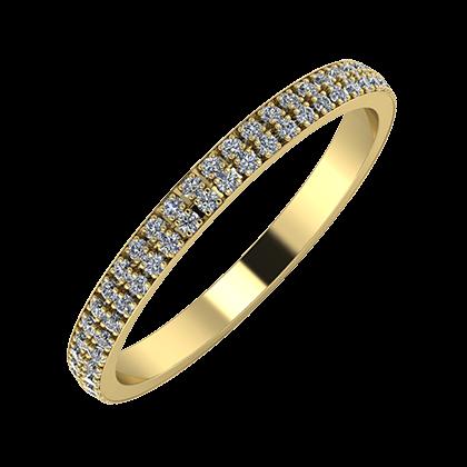 Alóma 2mm 14 karátos sárga arany karikagyűrű