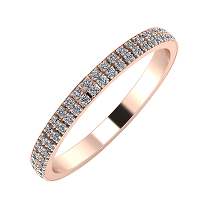 Alóma 2mm 18 karátos rosé arany karikagyűrű