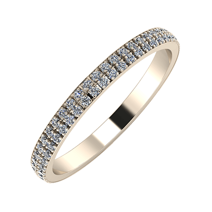 Alóma 2mm 22 karátos rosé arany karikagyűrű