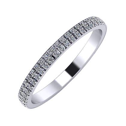 Alóma 2mm platina karikagyűrű