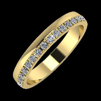 Ama 3mm 14 karátos sárga arany karikagyűrű