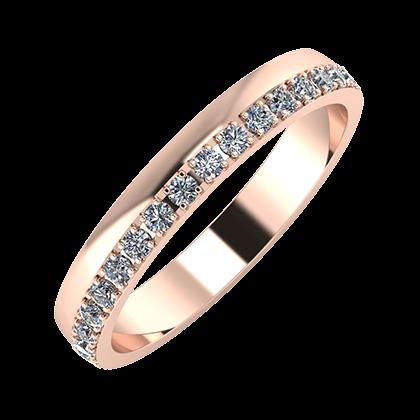 Ama 3mm 14 karátos rosé arany karikagyűrű